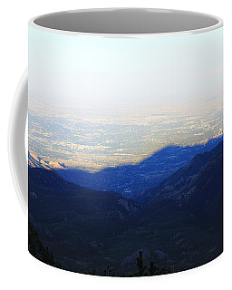 Coffee Mug featuring the photograph Mountain Shadow by Christin Brodie