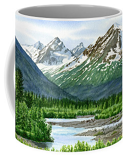 Mountain Shadows Glacier Valley Coffee Mug