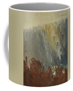 Mountain Side In Autumn Mist. Up To 90x120 Cm Coffee Mug