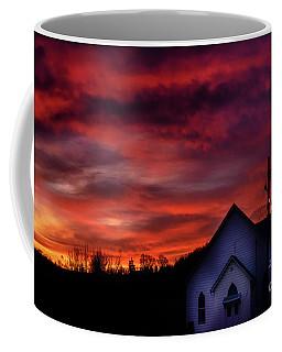 Coffee Mug featuring the photograph Mountain Sunrise And Church by Thomas R Fletcher