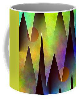 Mountain Sunset Abstract Coffee Mug