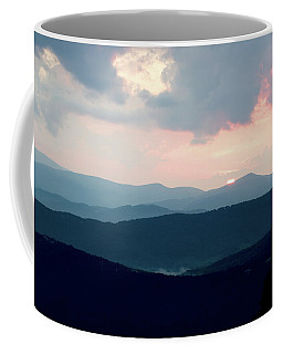 Coffee Mug featuring the photograph Blue Ridge Mountain Sunset by Meta Gatschenberger