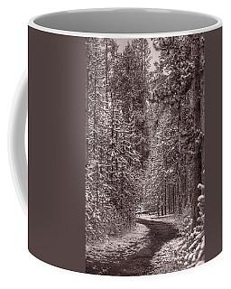 Mountain Trail Yellowstone Bw Coffee Mug