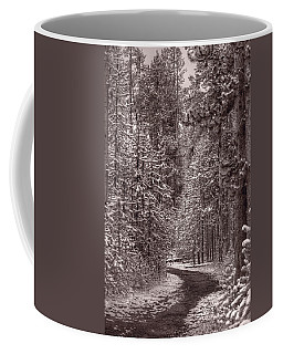 Mountain Trail Yellowstone Bw Coffee Mug