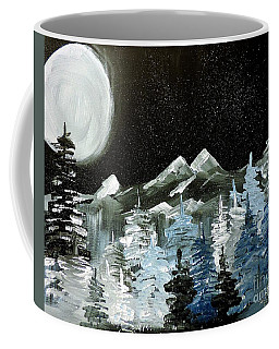 Mountain Winter Night Coffee Mug