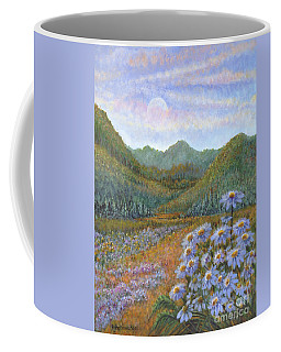 Mountains And Asters Coffee Mug by Holly Carmichael