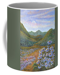 Mountains And Asters Coffee Mug