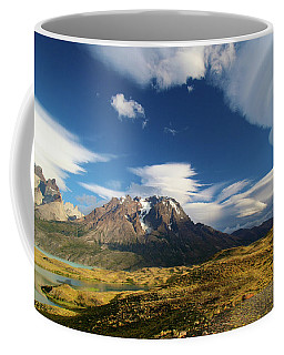 Mountains And Clouds In Patagonia Coffee Mug