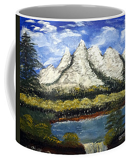 Mountains And Evergreens Coffee Mug