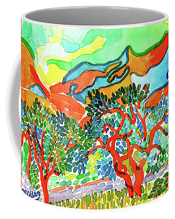 Mountains At Collioure Coffee Mug