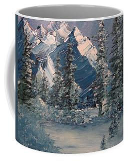 Mountains In Winter Coffee Mug
