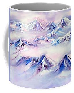 Flying Over Snowy Mountains Coffee Mug
