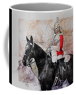 Mounted Household Cavalry Soldier On Guard Duty In Whitehall Lon Coffee Mug