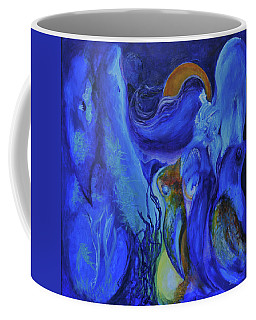 Coffee Mug featuring the painting Mourning Birds Of The Final Flower by Christophe Ennis
