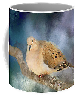 Coffee Mug featuring the photograph Mourning Dove Of Winter by Darren Fisher