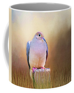 Mourning Dove Painted Portrait Coffee Mug