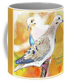 Mourning Dove Pair Poster Image Coffee Mug by A Gurmankin