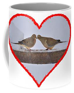 Mourning Doves Kissing Coffee Mug
