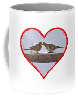 Mourning Doves Kissing Coffee Mug