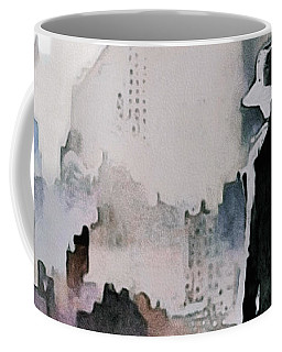 Coffee Mug featuring the painting Mourning The American Dream by Susan Maxwell Schmidt