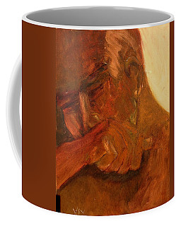 Coffee Mug featuring the painting Mourning - Apres Paris by VIVA Anderson