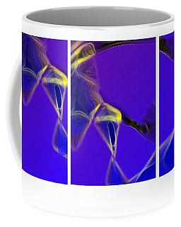 Coffee Mug featuring the digital art Movement In Blue by Steve Karol