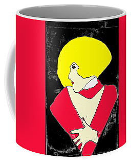 Coffee Mug featuring the drawing Movie Star by W And F Kreations