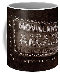 Coffee Mug featuring the photograph Movieland Arcade - Gritty by Stephen Stookey