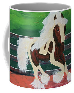 Coffee Mug featuring the painting Moving Horse by Donald J Ryker III