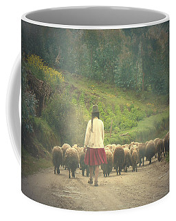Moving To Greener Pastures Ankawasi Peru Coffee Mug by Anastasia Savage Ealy