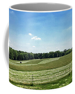 Mowing The Hayfield Coffee Mug