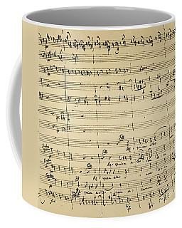 Coffee Mug featuring the photograph Mozart: Requiem Excerpt by Granger