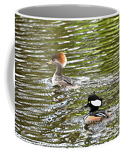 Mr. And Mrs. Hooded Mergansers Coffee Mug