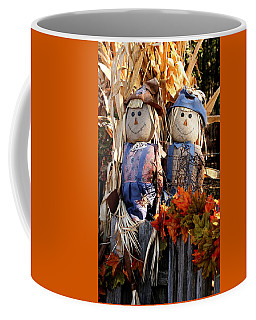 Coffee Mug featuring the photograph Mr. And Mrs. Scarecrow by Sheila Brown