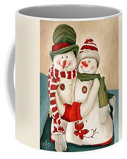 Mr. And Mrs. Snowman Vintage Coffee Mug