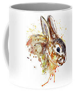 Coffee Mug featuring the mixed media Mr. Bunny by Marian Voicu