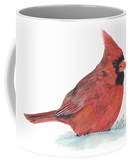 Coffee Mug featuring the painting Mr Cardinal by Betsy Hackett