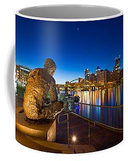 Coffee Mug featuring the photograph Mr Rogers Statue 3 by Emmanuel Panagiotakis