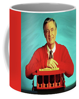 Mr Rogers With Trolley Coffee Mug