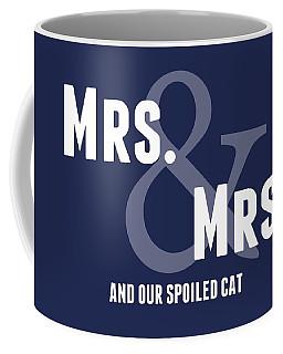 Mrs And Mrs And Cat- Blue Coffee Mug