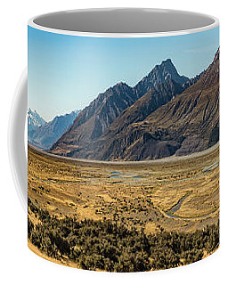 Coffee Mug featuring the photograph Mt Cook And Tasman River  by Gary Eason