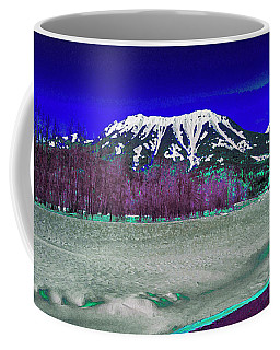 Coffee Mug featuring the digital art Mt Fernie With The 3 Sisters by David Pantuso