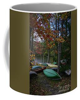 Mt. Gretna Canoes In Fall Coffee Mug