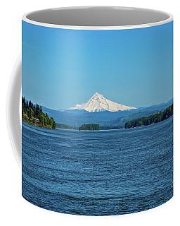 Mt. Hood Above The Columbia River Coffee Mug