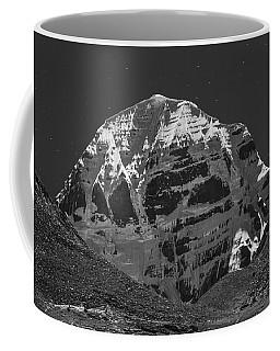 Mt. Kailash In Moonlight Coffee Mug by Hitendra SINKAR