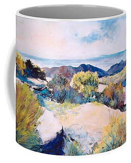 Coffee Mug featuring the painting Mt Lemmon View by M Diane Bonaparte