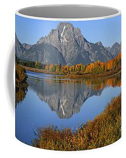 Mt. Moran Fall Reflection  Coffee Mug