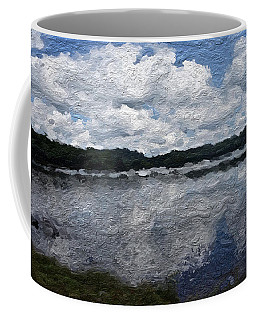 Coffee Mug featuring the painting Mt. Pocono Landscape by Joan Reese