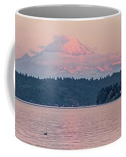 Mt. Rainier At Sunset Coffee Mug