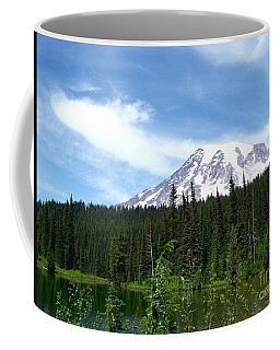 Coffee Mug featuring the photograph Mt. Rainier by Charles Robinson